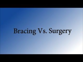 Bracing Vs Surgery in Dog ACL injuries