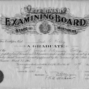 Fred Kelley certificatefrom the Veterinary Examining Board of the State of Missouri - 1923